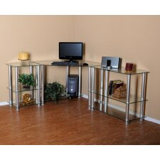 """Corner Computer Desk with 35"""" and 20"""" Modular Extensions"""