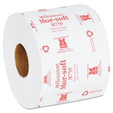 Morsoft Millennium 2-Ply Toilet Paper - 750 Sheets per Roll