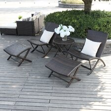 Azura 5 Piece Deep Seating Group with Back Pillows