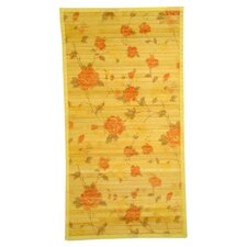 Intersection Cut Roses/Light Yellow Area Rug