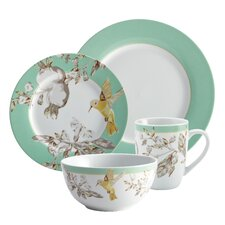 Fruitful Nectar Porcelain 16 Piece Dinnerware Set
