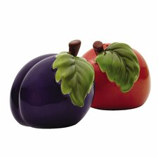 Orchard Harvest 2 Piece Salt and Pepper Shaker Set