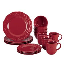 Spiceberry 16-Piece Stoneware Dinnerware Collection (Set of 16)