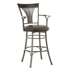 "Karol 30"" Swivel Bar Stool with Cushion"
