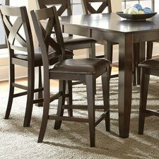 """Crosspointe 24"""" Bar Stool with Cushion (Set of 2)"""