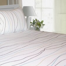 Dot Printed Extra Deep Pocket Flannel Sheet Set
