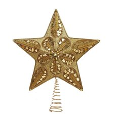 Gold and Glitter Beads Star Tree Topper