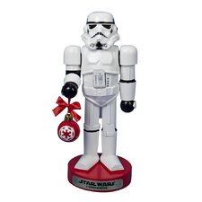"9.5"" Stormtrooper with Ball Ornament Nutcracker"