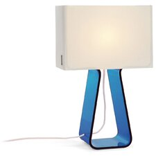 Colorful Tube Top 14'' H Table Lamp with Rectangular Shade