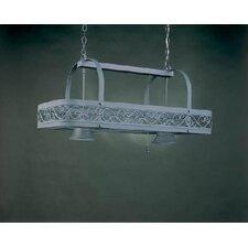 Odysee Rectangular Hanging Pot Rack with 2 Lights