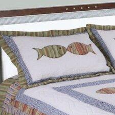 Handcrafted Fish Quilt Sham