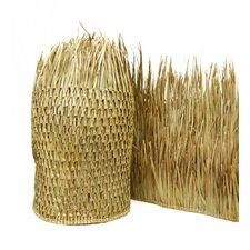 "2'6"" x 8' Mexican Palm Thatch Runner Roll (Set of 2)"