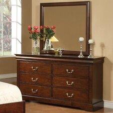 West Haven 6 Drawer Dresser with Mirror