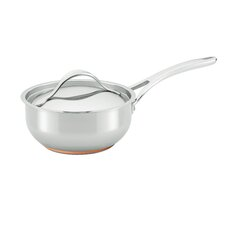 Nouvelle Copper Stainless Steel 2.5-qt. Saucier with Lid