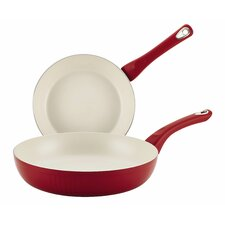 Ceramic Cookware 2-Piece Non-Stick Skillet Set