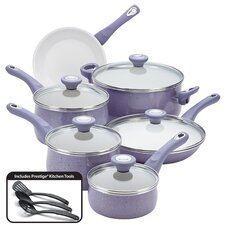 New Traditions Speckled Nonstick 14-Piece Cookware Set