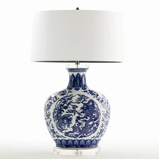 "Dragon 34"" H Table Lamp with Drum Shade"