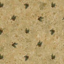 "Lodge Décor 33' x 20.5"" Pinecone Toss Floral Botanical Wallpaper"