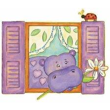 Hippo Panel Wall Mural