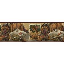 "Lodge Décor 15' x 9"" Western Still Life Senic Border Wallpaper"