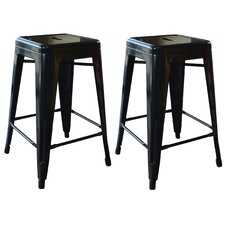 "AmeriHome 24"" Bar Stool (Set of 2)"