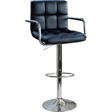 Ameri Home Adjustable Height Swivel Bar Stool with Cushion (Set of 2)