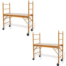 """Pro Series 2 Piece 6.25' H x 73.56"""" W x 29.28"""" D Steel Multi Purpose Scaffold with 375 lb. Load Capacity Type 2A Duty Rating"""