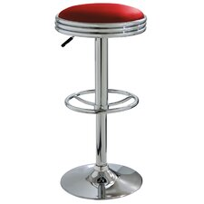Ameri Home Adjustable Height Swivel Bar Stool with Cushion