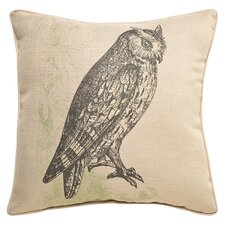Lava Owl Etching  Throw Pillow