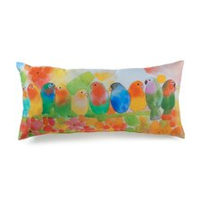 Lava Tropical Birds Throw Pillow