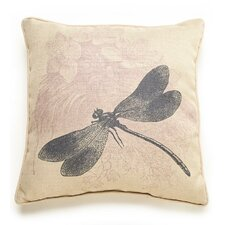 Lava Dragonfly Etching Throw Pillow