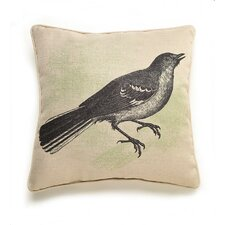 Lava Bird Etching Throw Pillow