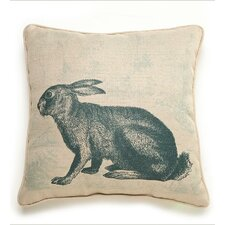 Lava Rabbit Etching Throw Pillow