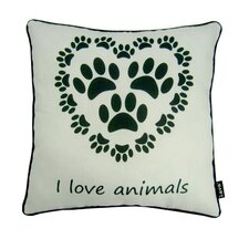 Love Animals Indoor/Outdoor Throw Pillow