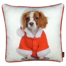 Holiday King Charles Throw Pillow