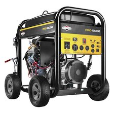 10,000 Watt Pro Series Portable Generator with Electric Start and Wheel Kit