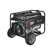 Power Boss 5,250 Watt Portable Generator with Recoil Start and Wheel Kit