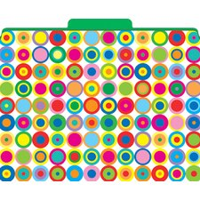 Functional File Folders Disco Dots, 12-Pack