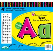 Neon Pop-outs Letters & Numbers