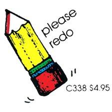 Stamp Please Redo Pencil (Set of 2)