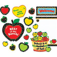 Poppin Pattern Apples Bulletin Board Cut Out