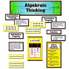 Algebraic Thinking Mini Grade 3-5 Bulletin Board Cut Out