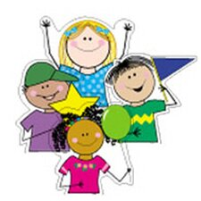 Stick Kids Variety Designer Bulletin Board Cut Out