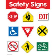 Safety Signs Chart (Set of 3)