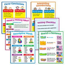 6 Piece Writing Chart Set