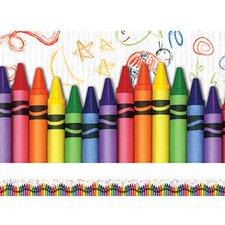 Crayons Layered Classroom Border (Set of 2)