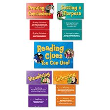 43 Piece Reading Strategies Bulletin Board Cut Out Set