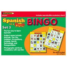 3 Piece Spanish in a Flash Bingo Book Set