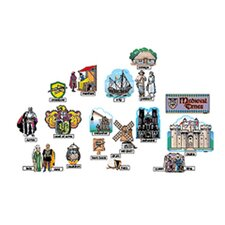 63 Piece Medieval Times Bulletin Board Cut Out Set