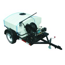 3000 PSI Cold Water Gas Trailer Mounted Pressure Washer